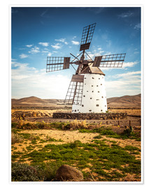 Premiumposter  Windmill on Fuerteventura - Siegfried Heinrich