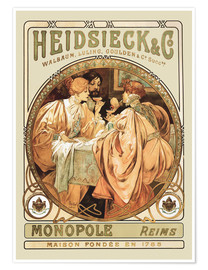 Premiumposter  Heidsieck & Co Champagne - Alfons Mucha
