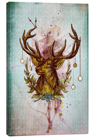 Canvastavla  Oh Deer, is that the time? - Sybille Sterk