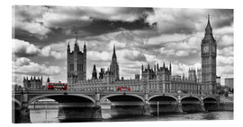 Akrylglastavla  LONDON Westminster Bridge Panoramic - Melanie Viola