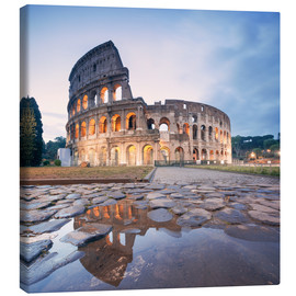 Canvastavla  Colosseum reflected into water - Matteo Colombo