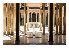 Premiumposter  Court of the Lions, Alhambra palace, Granada, Spain - Matteo Colombo
