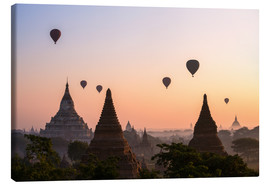 Canvastavla  Balloons and temples, Bagan - Matteo Colombo