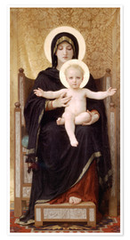 Premiumposter  Madonna and Child - William Adolphe Bouguereau