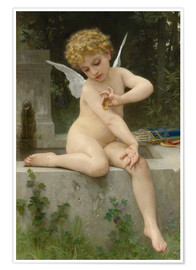 Premiumposter Cupid with butterfly