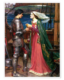 Premiumposter  Tristan and Isolde - John William Waterhouse