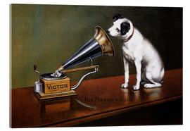 Akrylglastavla  His Master's Voice - François Barraud