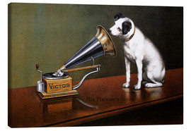 Canvastavla  His Master's Voice - François Barraud