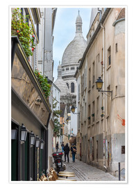 Premiumposter Streets of Montmartre Paris