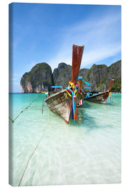 Canvastavla  Decorated wooden boats, Thailand - Matteo Colombo