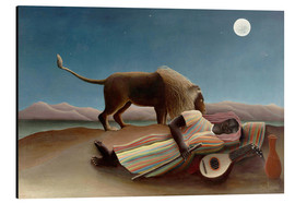 Aluminiumtavla  The sleeping one - Henri Rousseau
