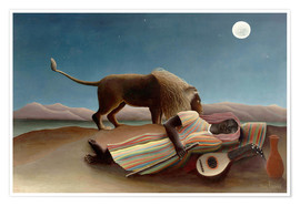 Premiumposter  The Sleeping Gypsy - Henri Rousseau