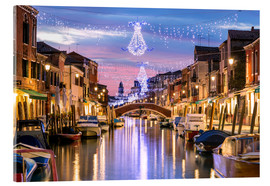 Akrylglastavla  Canal in Venice at Christmas - Matteo Colombo