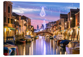 Canvastavla  Canal in Venice at Christmas - Matteo Colombo