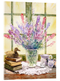 Akrylglastavla  Lupins on Windowsill - Julia Rowntree