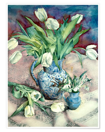 Premiumposter  Tulips and Snowdrops - Julia Rowntree
