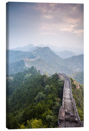 Canvastavla  Great Wall of China in fog - Matteo Colombo
