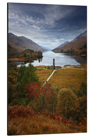 Aluminiumtavla  Glenfinnan Monument - Scotland - Martina Cross