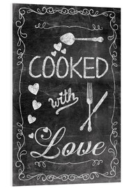 PVC-tavla  Cooked with Love - Andrea Haase