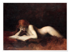 Poster  The Reader - Jean-Jacques Henner