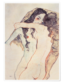 Poster  Two Women Embracing - Egon Schiele