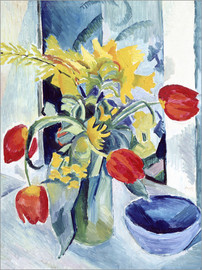 Akrylglastavla  Still life with tulips - August Macke