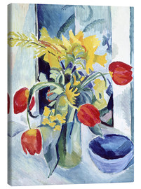 Canvastavla  Still life with tulips - August Macke