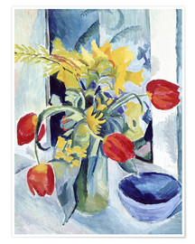 Premiumposter  Still life with tulips - August Macke
