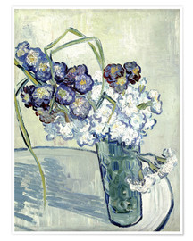 Premiumposter Vase with Carnations