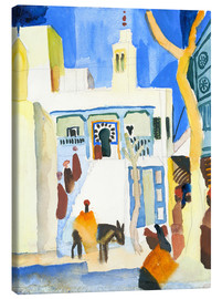 Canvastavla  A Mosque - August Macke