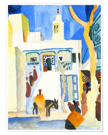 Premiumposter  A Mosque - August Macke