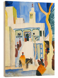 Trätavla  A Mosque - August Macke