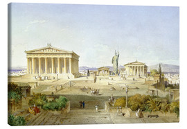 Canvastavla  The Acropolis at Pericles' time - Ludwig Lange