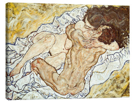 Canvastavla  The Embrace (Lovers II) - Egon Schiele