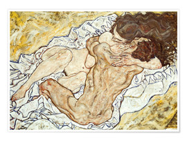 Premiumposter  The Embrace (Lovers II) - Egon Schiele