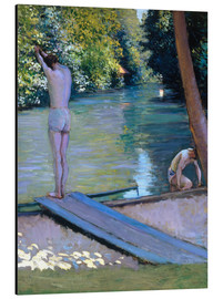 Aluminiumtavla  Bathers on the banks of the Yerres - Gustave Caillebotte