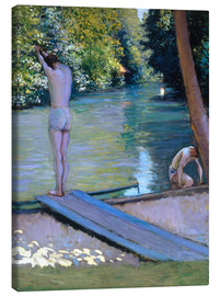 Canvastavla  Bathers on the banks of the Yerres - Gustave Caillebotte