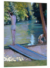 PVC-tavla  Bathers on the banks of the Yerres - Gustave Caillebotte