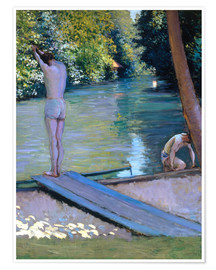 Premiumposter  Bathers on the banks of the Yerres - Gustave Caillebotte