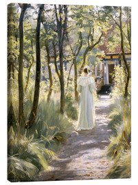 Canvastavla  Marie on a garden path - Peder Severin Krøyer