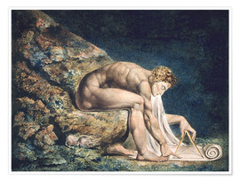 Premiumposter  Isaac Newton - William Blake