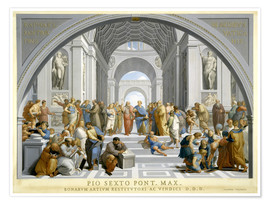 Premiumposter School of Athens (after Raphael) to 1771-79