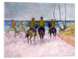 Akrylglastavla  Riders on the beach (I) - Paul Gauguin
