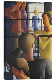 Canvastavla  Group on the railing - Oskar Schlemmer