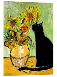 Akrylglastavla  The cat of Van Gogh - JIEL