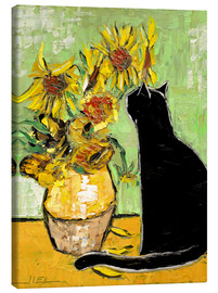 Canvastavla  The cat of Van Gogh - JIEL
