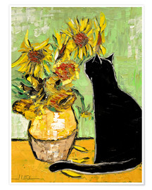 Premiumposter  The cat of Van Gogh - JIEL