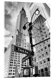 Akrylglastavla  Chrysler Building i New York City (monokrom) - Sascha Kilmer