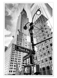 Premiumposter  Chrysler Building i New York City (monokrom) - Sascha Kilmer