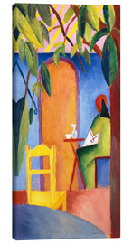 Canvastavla  Turkish Café II - August Macke